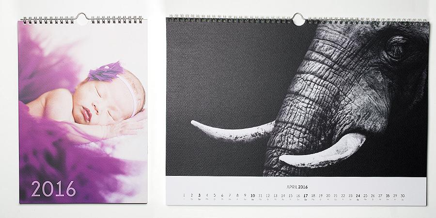 Fotokalender mit Papier strukturiert