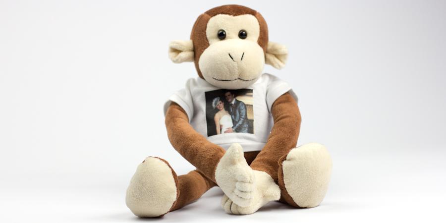 Der Affe - das Foto-Kuscheltier
