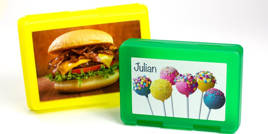 Foto-Brotdose Größenvergleich