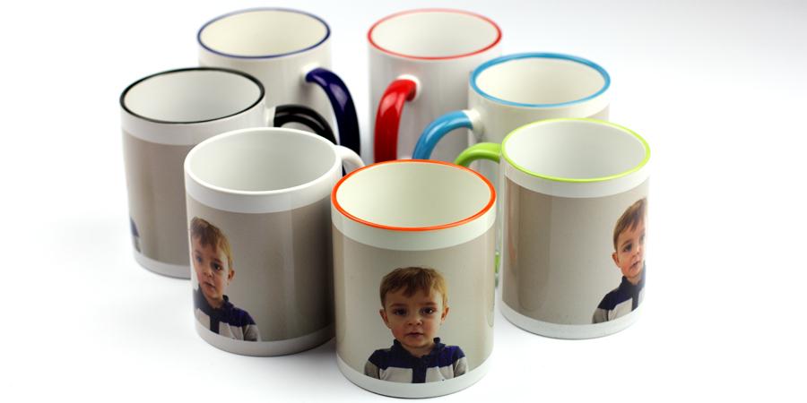 Übersicht der Foto-Tassen Farben