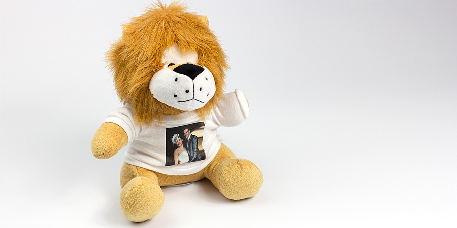 Der Löwe - das Foto-Kuscheltier