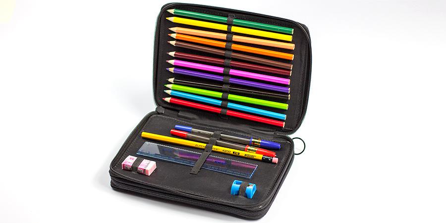 Schul-Etui mit Stiften