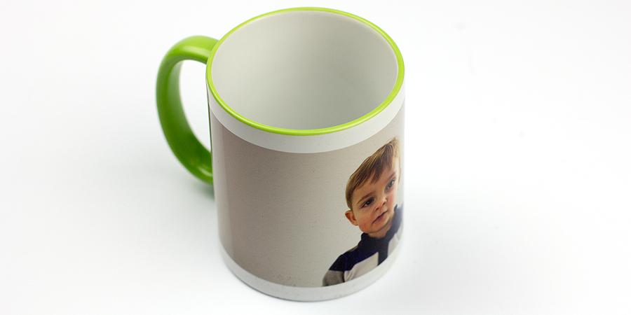 Foto-Tasse in grün